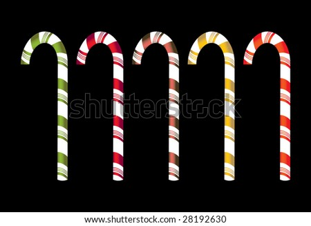 Isolated candy canes - jpg version - stock photo