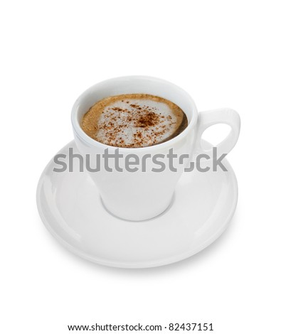 Isolated Cappuccino cup - stock photo