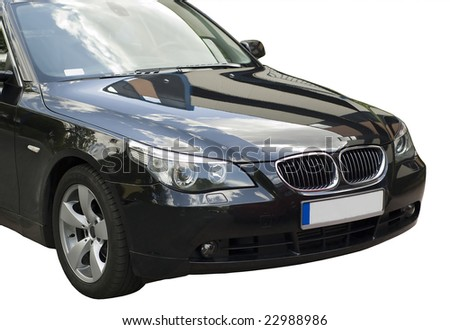 Isolated car - stock photo