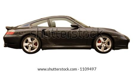Isolated car on white background - stock photo