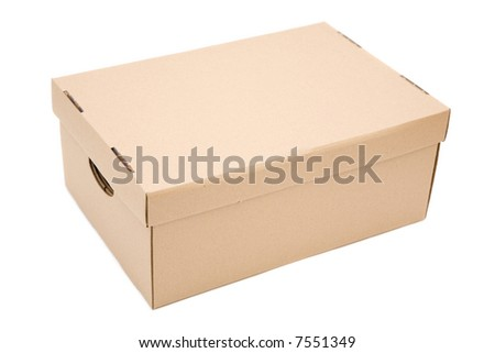 isolated cardboard close up on white background