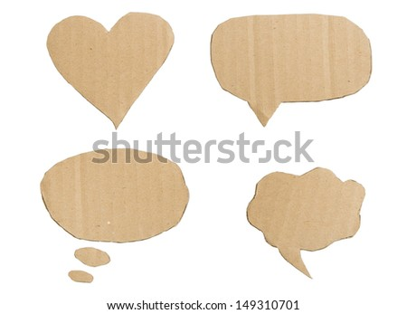 Isolated cardboard on white  background