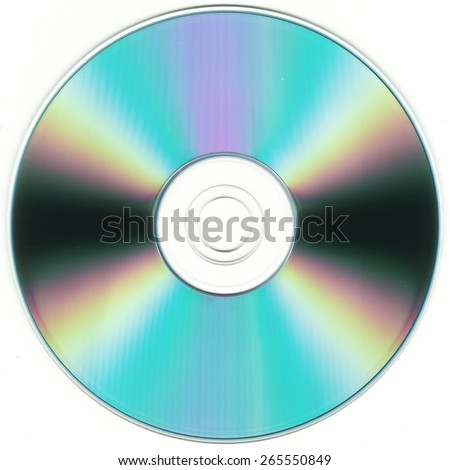isolated CD or DVD silhouette
