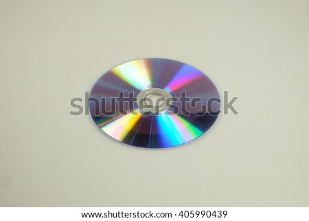isolated CD or DVD silhouette - stock photo