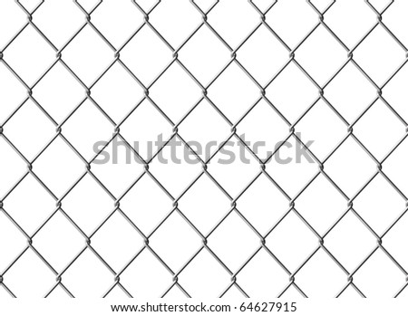 Isolated Chain link fence. Seamless texture. Computer generated image. - stock photo