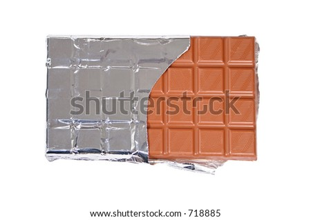 Isolated chocolate bar - stock photo