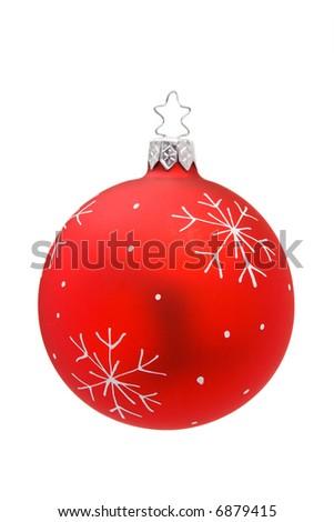 Isolated Christmas Bauble - stock photo
