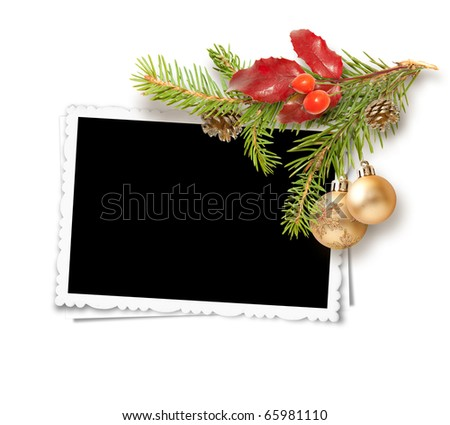 isolated Christmas frame - stock photo