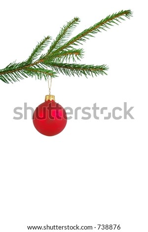 Isolated Christmas tree decoration