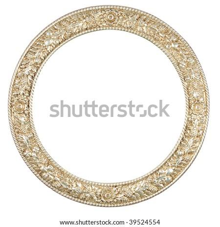 isolated circle frame - stock photo