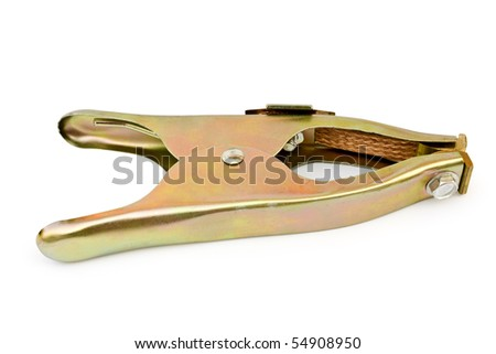 isolated clamp on a white background