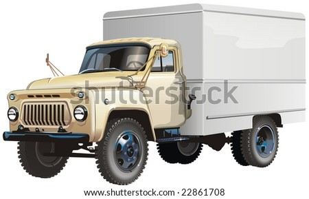 Isolated classic russian lorry. Vector version see in my portfolio.