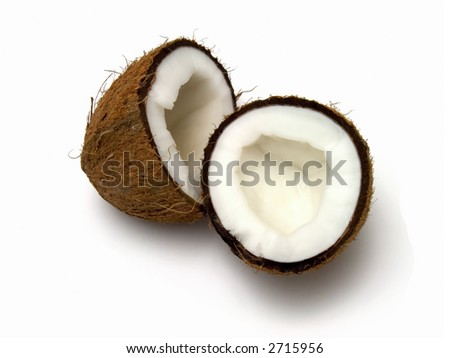 isolated coconut on the white background