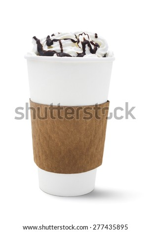 Isolated coffee drink on a white background. - stock photo