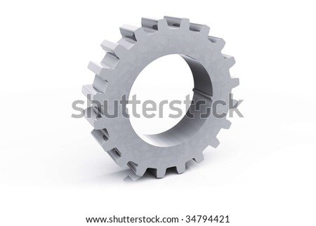 Isolated Cog - stock photo