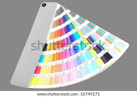 isolated color guide on grey backround - stock photo