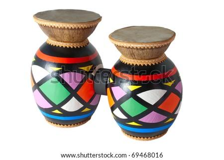 Isolated colored bongo on a white background - stock photo
