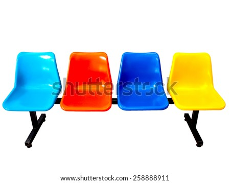 isolated colorful bench on white background - stock photo
