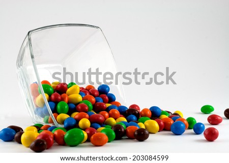 Isolated colorful bonbons