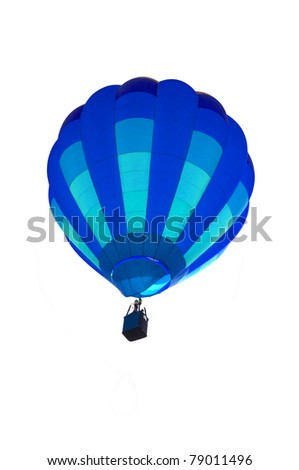 Isolated colorful hot air balloon - stock photo