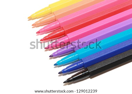 isolated colorful marker in white background - stock photo