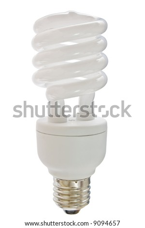 isolated compact florescent light bulb