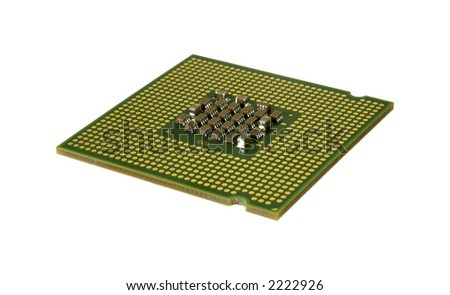 Isolated Computer Chip (CPU) - Technology Related