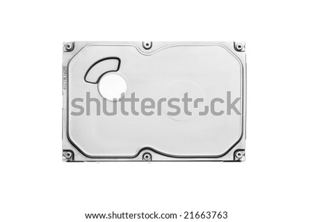 Isolated computer hard disk - stock photo