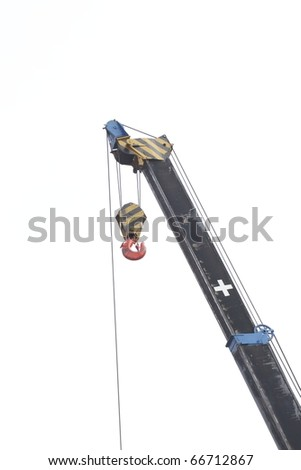 isolated construction crane with hook