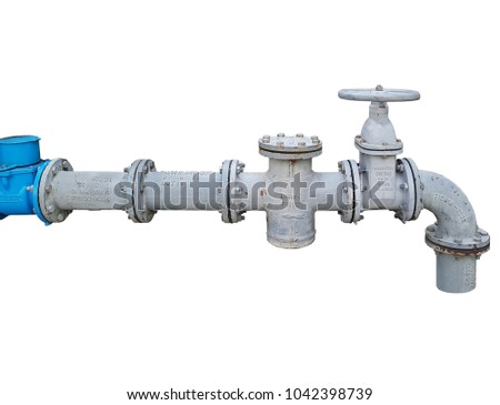 Isolated Control main valve, Water control main valve, Pipeline distribution, Water pipeline distribution.