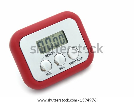 Isolated cooking timer - stock photo