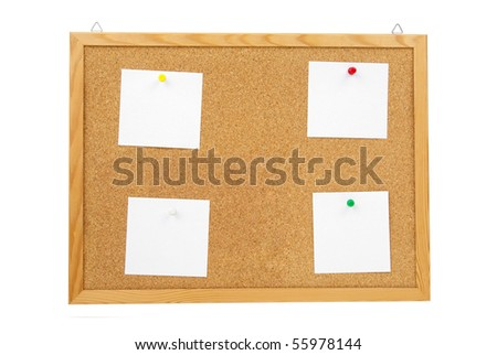 isolated corck board with clipping paths - stock photo