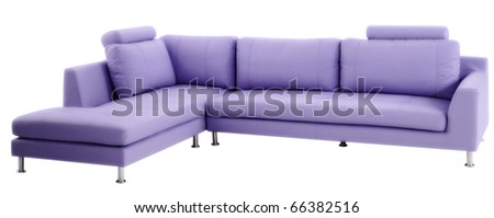 isolated couch - stock photo