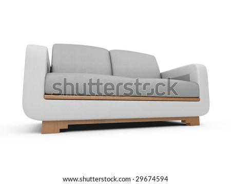 isolated couch over white background