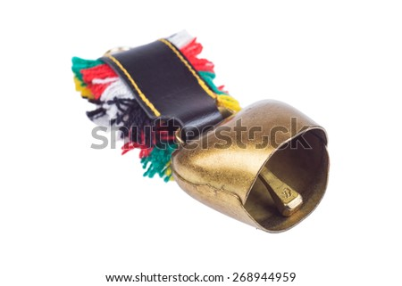 Isolated Cow/goat bell  - stock photo