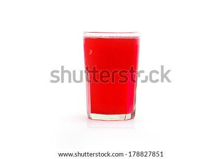 Isolated Cranberry Juice.