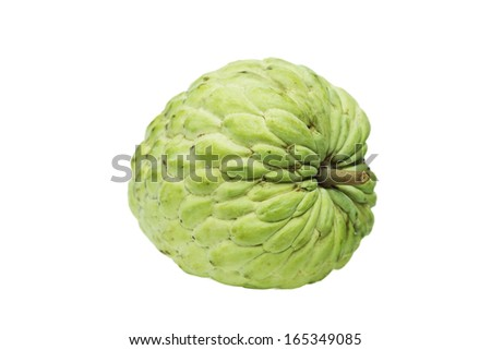 isolated custard apple in white background - stock photo