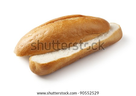 Isolated cut off white bread on the white