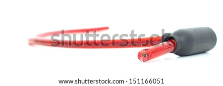 Isolated cut red padlock on white background  - stock photo