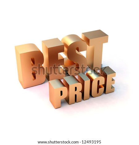 "isolated 3d golden text ""BEST PRICE"" - stock photo"