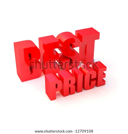 "isolated 3d red text ""BEST PRICE"" - stock photo"
