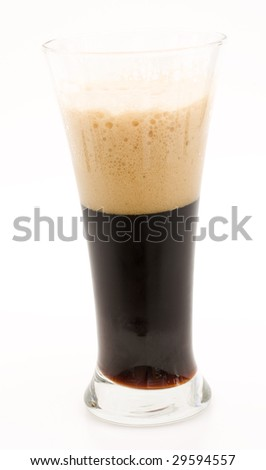 Isolated Dark Beer