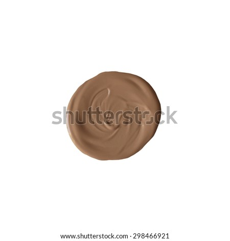 Isolated dark liquid foundation sample - stock photo