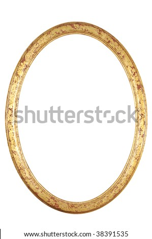 isolated decorative frame - stock photo