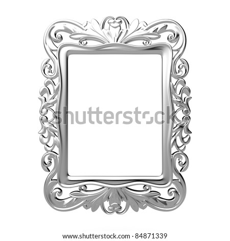 Isolated decorative frame over white background - stock photo