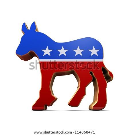 Isolated Democrat Party Symbol - stock photo