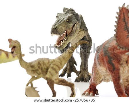 Isolated dinosaur in white background - stock photo