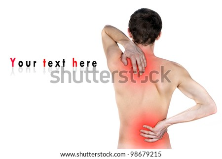 isolated disease of the back - stock photo