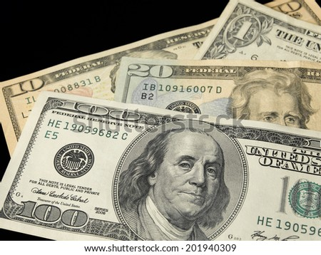 Isolated 100 Dollar bill - stock photo