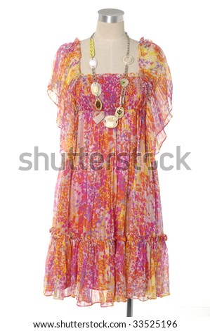 Isolated dress on mannequin - stock photo